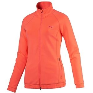 Puma Small Fluoro Peach Golf Jacket dryCELL